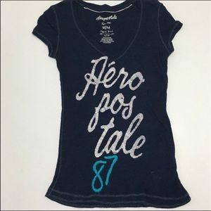 Aeropostale Tops - Aeropostale size medium dark blue tshirt